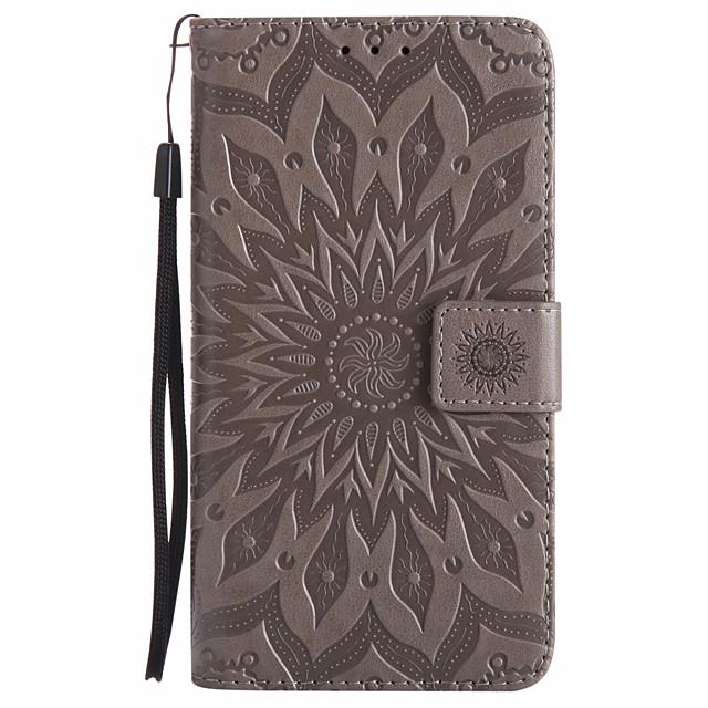 Case สำหรับ Samsung Galaxy J7 Prime / J7 Perx / J7 (2017) Wallet / Card Holder / with Stand ตัวกระเป๋าเต็ม Mandala Hard หนัง PU