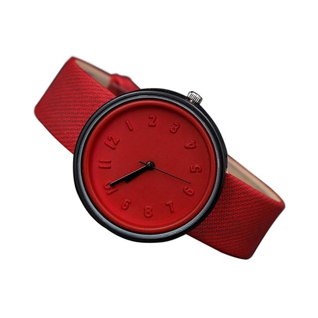 Pentru femei Ceas de Mână Quartz femei Ceas Casual Analog Alb Negru Rosu / Piele Autentică / Piele Autentică