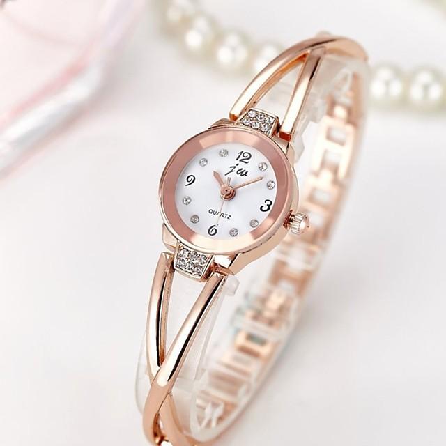 Pentru femei femei Ceas Brățară Ceas de Mână Diamond Watch Quartz Charm Rezistent la Apă Analog Roz auriu Argintiu / Oțel inoxidabil / Oțel inoxidabil / Cronograf