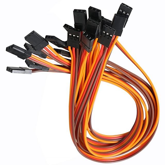 3-контактный 20-миллиметровый серво-кабельный кабель для мужчин (10 шт)