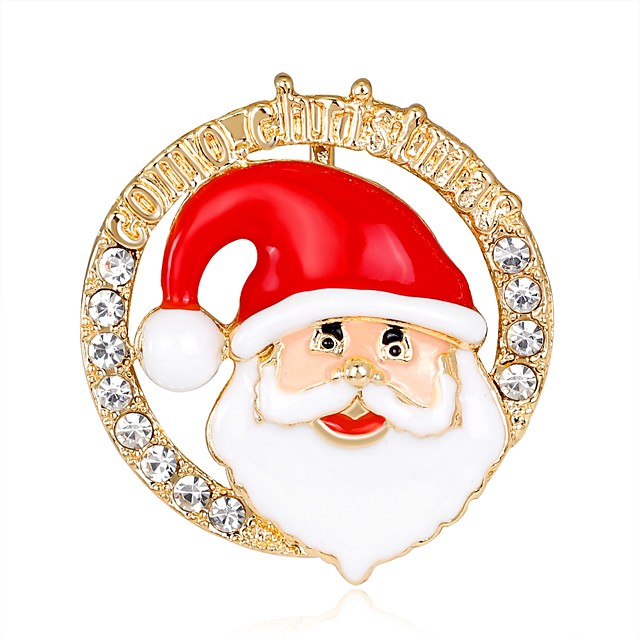 Erkek Kadın's Broşlar Bayan Moda Gül Rengi Altın Kaplama Broş Mücevher Gökküşağı Uyumluluk Noel Yeni Yıl