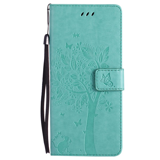 Pouzdro Uyumluluk Samsung Galaxy Note 8 / Note 5 / Note 4 Cüzdan / Kart Tutucu / Satandlı Tam Kaplama Kılıf Kedi / ağaç Sert PU Deri