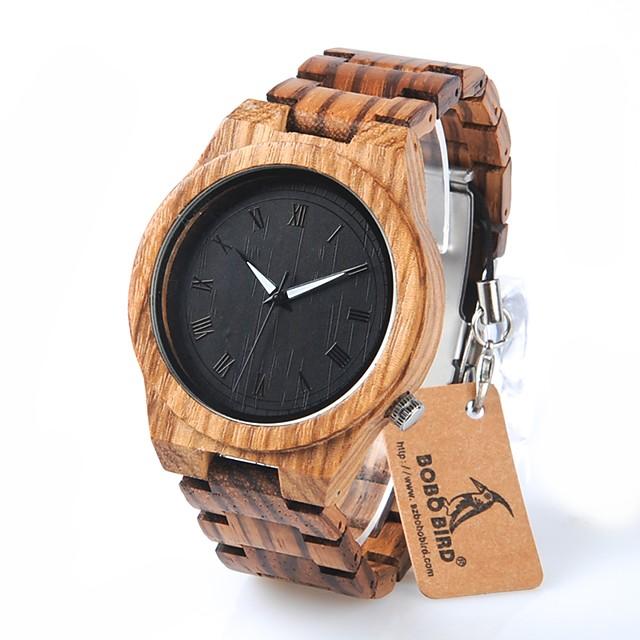 สำหรับผู้ชาย นาฬิกาข้อมือ นาฬิกาอิเล็กทรอนิกส์ (Quartz) เสน่ห์ กันน้ำ ระบบอนาล็อก สีดำ / ไม้ / โครโนกราฟ