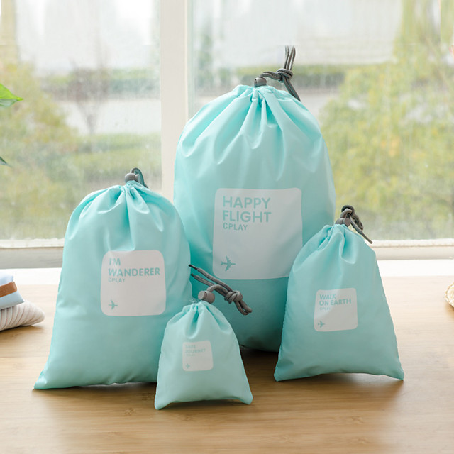 Organizator putovanja Organizer putne torbe Kozmetička torbica Velika zapremnina Putna kutija Izdržljivost PVC Poklon Za 44*30 30*22 22*15 14*11 cm