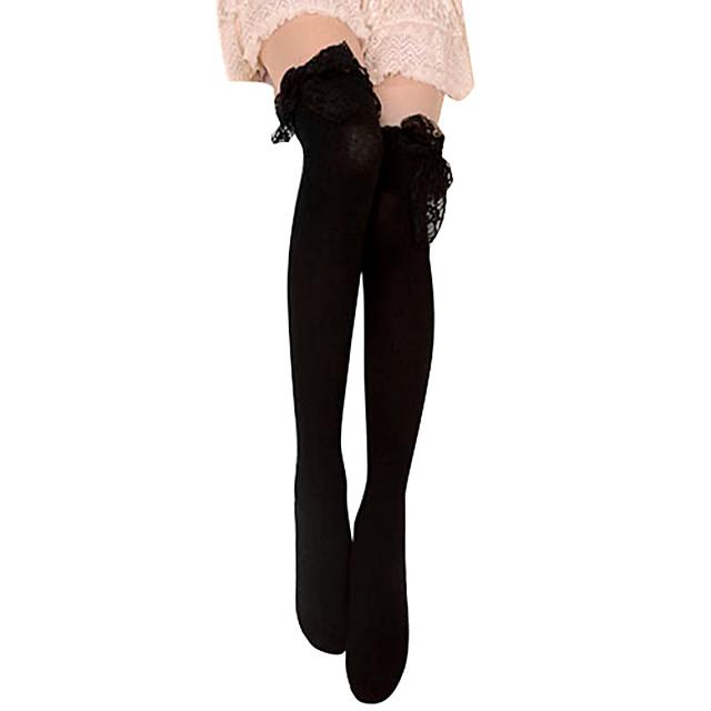 여성용 로리타 양말&스타킹 블랙 레이스 면 로리타 액세서리 / 고딕 로리타 / 클래식 / 전통적 롤리타