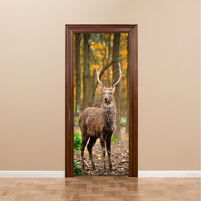 Deer Wildlife Animal 3D Wall Art Sticker Mural Decal Home Office Decor FP3