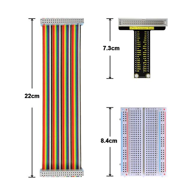 lampone pi v1 board40p cavo colorato a nastro cavo400 foro