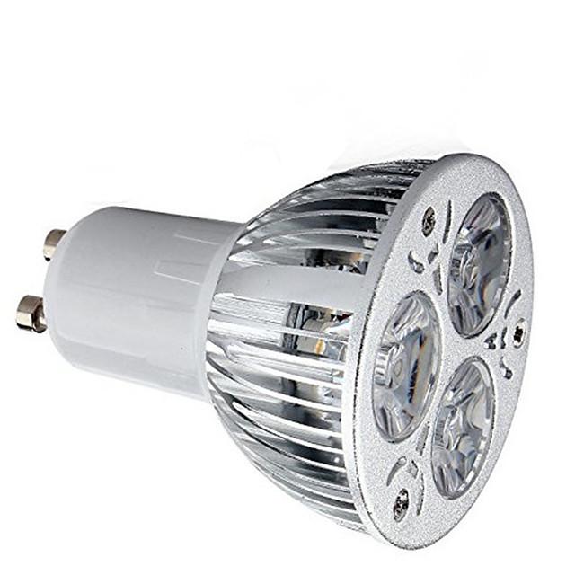 1pc 9 W Faretti LED 600 lm GU10 3 Perline LED LED ad alta intesità Decorativo Bianco caldo Luce fredda 85-265 V / 1 pezzo / RoHs