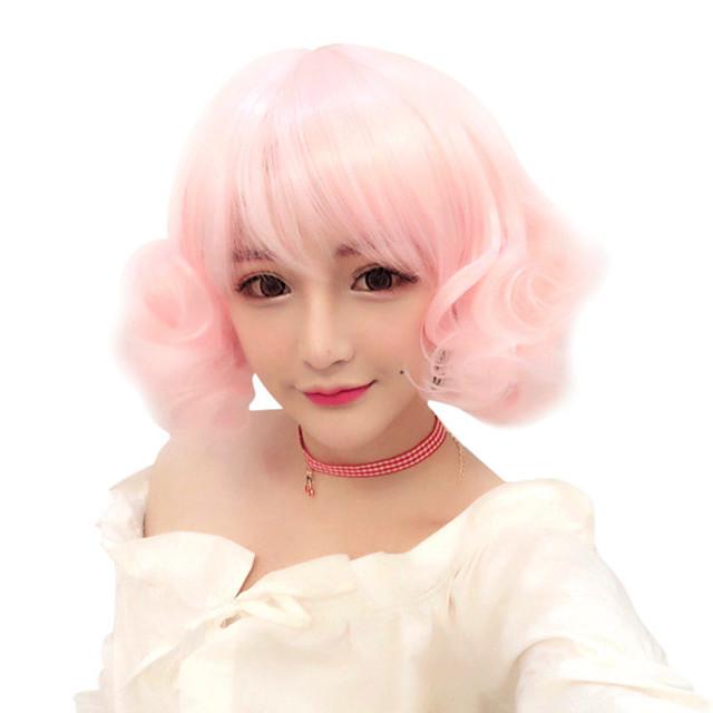 Lolita Cosplay Wigs Žene Djevojčice 30 inch Otporna na toplinu vlakna Anime perika