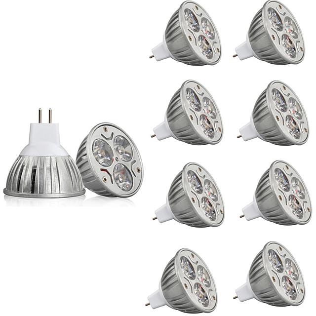 10 pièces 3 W Spot LED 250 lm MR16 3 Perles LED LED Haute Puissance Décorative Blanc Chaud Blanc Froid 12 V