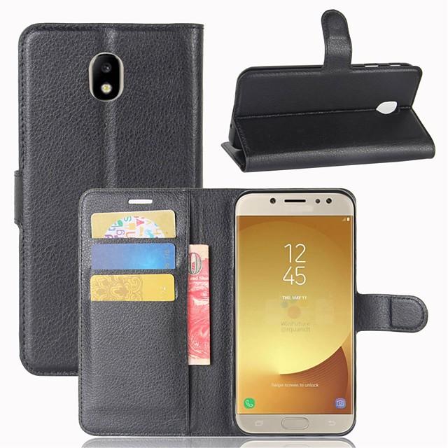 Θήκη Za Samsung Galaxy J7 (2017) / J7 (2016) / J7 Novčanik / Utor za kartice / Zaokret Korice Jednobojni Tvrdo PU koža