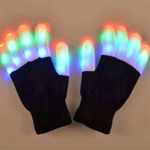 Noël Vacances Eclairage LED Jouets Lumineux Gants LED Finger Lights Éclairage Bout des Doigts Adulte pour des cadeaux d'anniversaire et des cadeaux 2 pcs