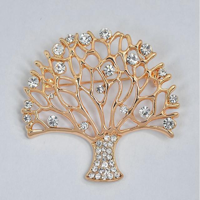Naisten Rintaneulat Elämän puu elämän puu Tyylikäs Makea Tekojalokivi Rintaneula Korut Kulta Käyttötarkoitus Päivittäin Muodollinen