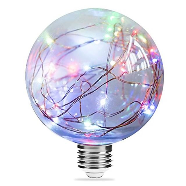 1pc 3 W Ampoules à Filament LED 250 lm E27 G95 33 Perles LED LED Intégrée Étoilé Bleu Rose Plusieurs Couleurs 85-265 V / RoHs