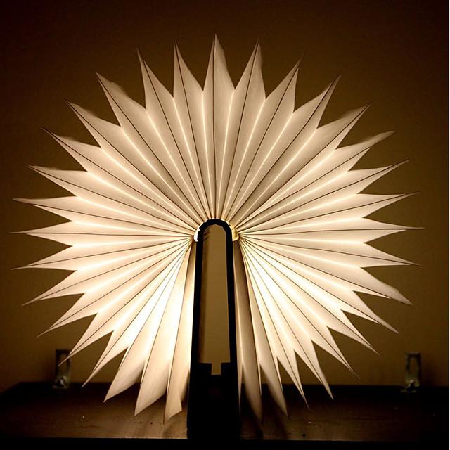 Ampoules LED en bois flip book lampe usb rechargeable veilleuse pliable créative booklight veilleuse design magnétique