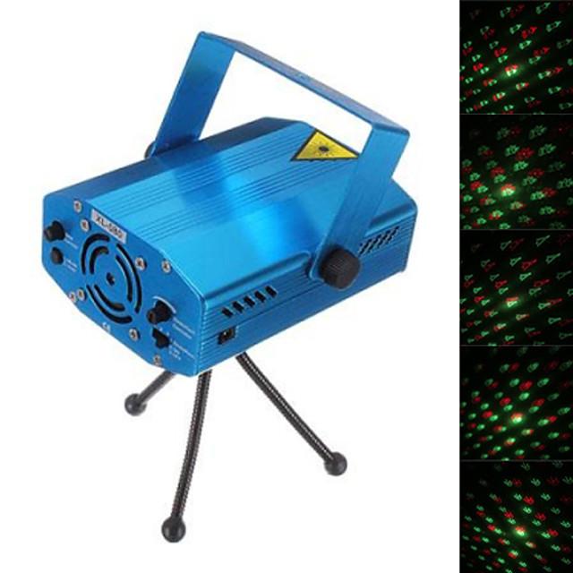 Lumières disco Lumière de fête Lampe LED de Soirée / Laser Camping / Randonnée / Spéléologie / Boîte de Nuit Mini / Amusement Rouge Vert LT-923181 pour l'éclairage de spectacle de disco de DJ de