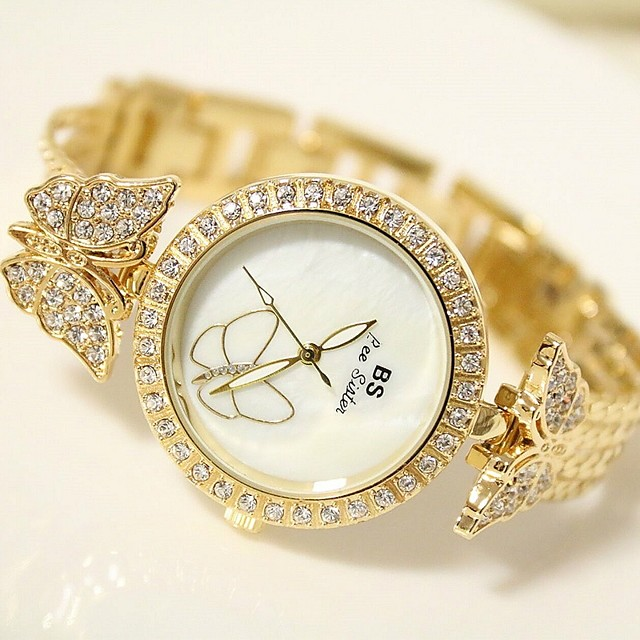 Dames Armbandhorloge Polshorloge Diamond Watch Dames Analoog Goud Zilver / Roestvrij staal / Roestvrij staal / Japans / Japans
