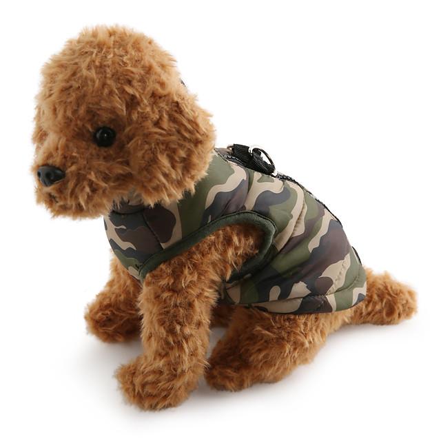 Câine Haine Γιλέκο camuflaj Casul / Zilnic În aer liber Iarnă Îmbrăcăminte Câini Respirabil Culoare Camuflaj Mov Galben Costume Bumbac XS S M L