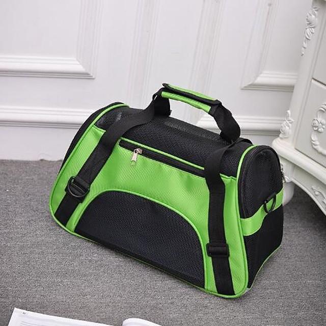 قط كلب الحاملة حقائب تحمل على الظهر وللسفر حقيبة ظهر المحمول متنفس قابلة للطى لون سادة نايلون أرجواني أخضر أزرق