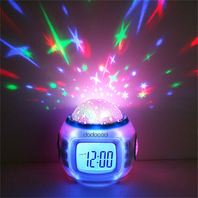 Sveglia musicale Sky Projector Light Per i Bambini / Colore variabile / Compleanno Batterie AAA alimentate 1pc