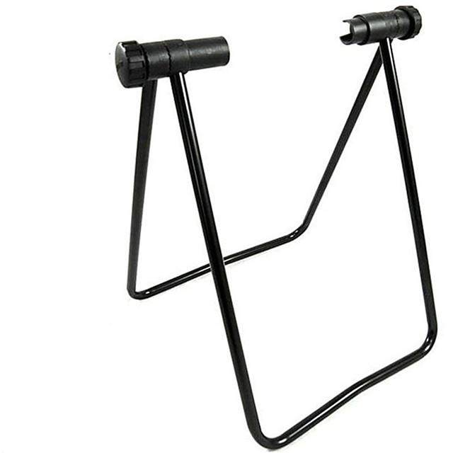 אופניים משולש גלגל רכזת לעמוד מתכווננת מתקפל עמיד קיפול אחסון עבור אופני כביש אופני הרים רכיבת אופניים פלדה שחור