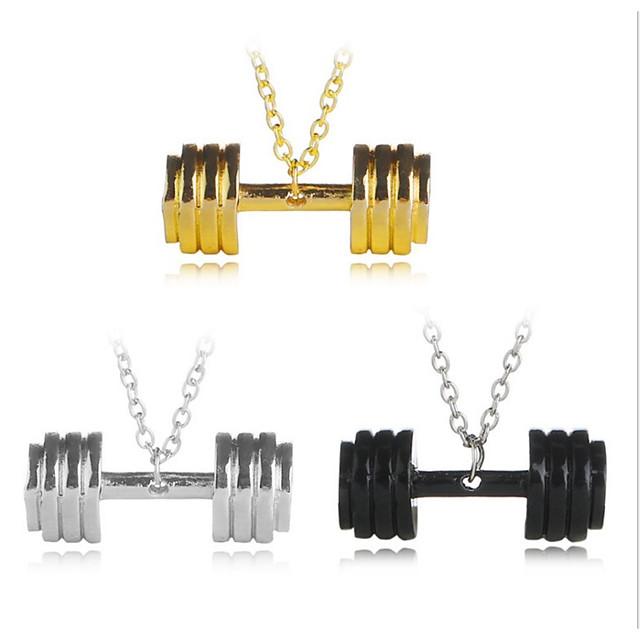 رجالي نسائي قلائد الحلي هندسي بسيط مطلي بالفضة معدني معدن أسود ذهبي فضي قلادة مجوهرات لوحة واحدة من أجل مناسب للبس اليومي رسمي