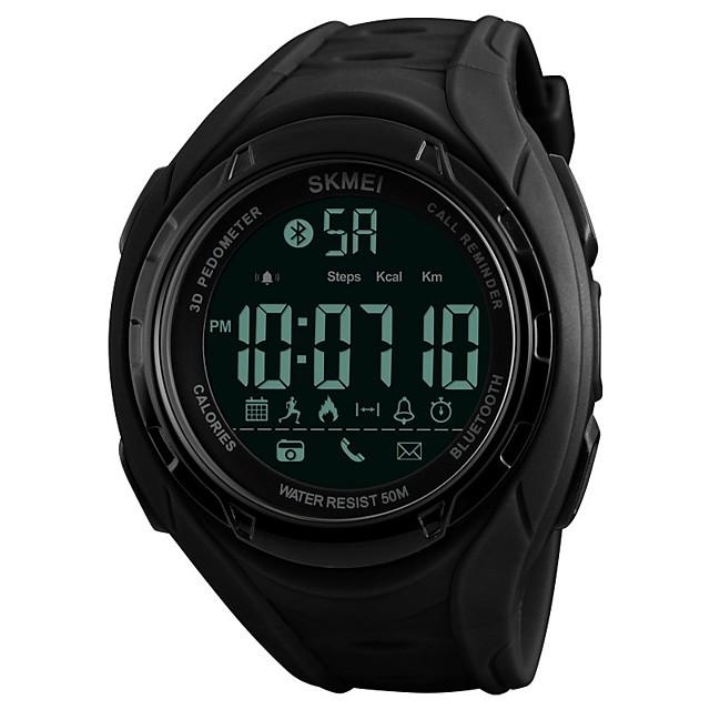 SKMEI Ανδρικά Αθλητικό Ρολόι Ψηφιακό ρολόι Χαλαζίας Πολυτέλεια Ανθεκτικό στο Νερό Ψηφιακό Μαύρο Πράσινο / Συνθετικό δέρμα με επένδυση / Ημερολόγιο / Βηματόμετρα / Χρονόμετρο