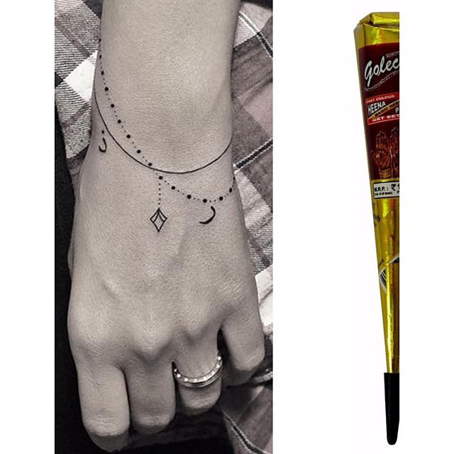 Henna Ink Kit: Black Herbal Henna Cones Temporary Tattoo Kit Body Art