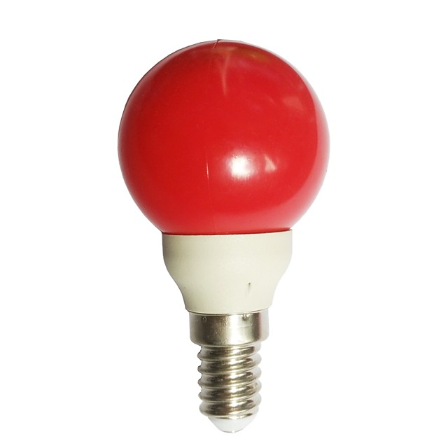 1pc 0.5 W LED Kugelbirnen 15-25 lm E14 G45 7 LED-Perlen Dip - Leuchtdiode Dekorativ Rot 100-240 V / RoHs