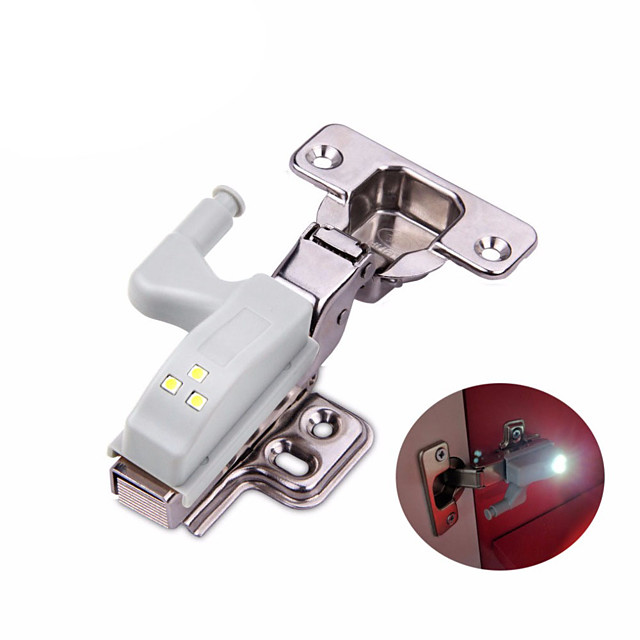 univerzalni 0.3w unutarnji šarnir vodio senzor noćno svjetlo kabinet vrata ormar 3 leds lampa auto prekidač žarulja