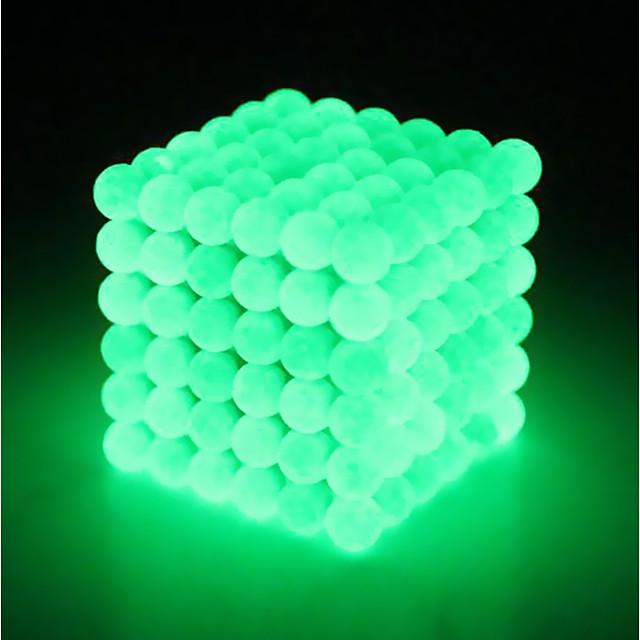 64 pcs 5mm Jouets Aimantés Boules Magnétiques Blocs de Construction Aimants de terres rares super puissants Aimant Néodyme Cube casse-tête Aimant Néodyme Grappe Type magnétique Phosphorescent