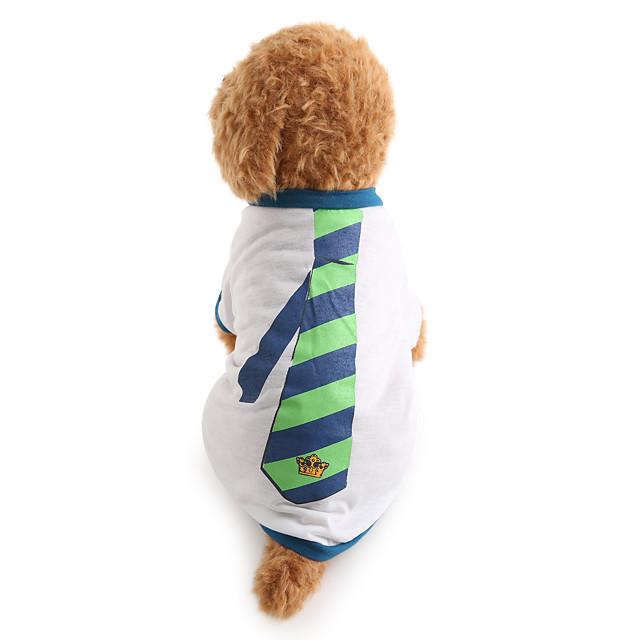 Câine Tricou Dungi Nuntă Modă Îmbrăcăminte Câini Alb Costume Bumbac XS S M L