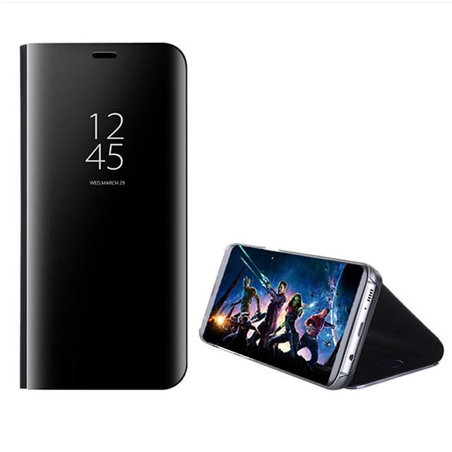 電話 ケース 用途 サムスンのギャラクシー フルボディーケース フリップケース S8 Plus S8 S7 edge S7 S6エッジプラス S6エッジ スタンド付き ミラー フリップ 純色 ハード PC