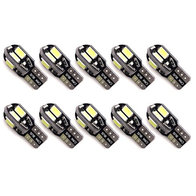 Automatique LED Feux de position latéraux T10 Ampoules électriques 50 lm SMD 5630 1 W 8 Pour Universel Toutes les Années 10 pièces