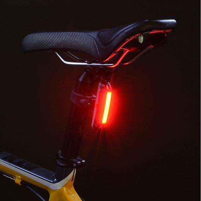 Luci bici Luce posteriore per bici luci di sicurezza Ciclismo da montagna Bicicletta Ciclismo Impermeabile Portatile Sveglia Avvertenze Litio USB