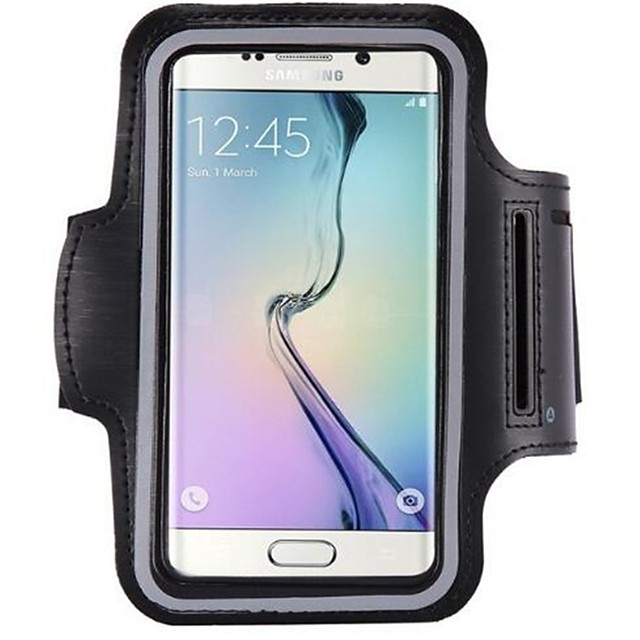 fodral Till Samsung S9 / S8 / S7 edge Vattentät / Sportarmband / Armbindel Fodral Enfärgad Mjukt Plast