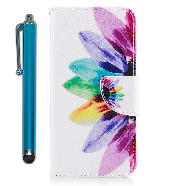 Kılıf Na Samsung Galaxy S9 / S9 Plus / S8 Plus Portfel / Etui na karty / Z podpórką Pełne etui Kwiat Twardość Skóra PU