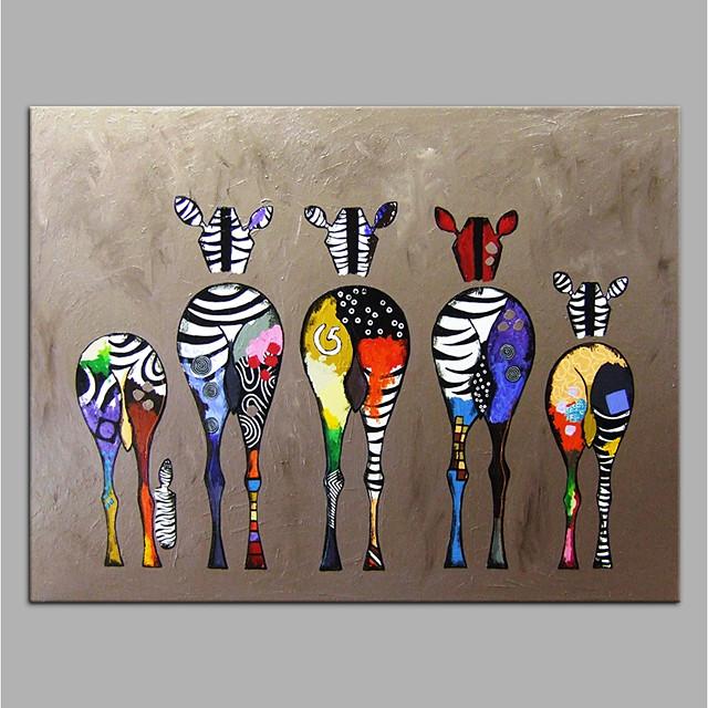ručno oslikano platno životinjskog ulja na platnu šarene zebre suvremene umjetnosti bez okvira