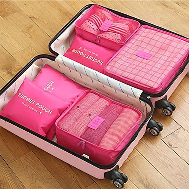 6 kompleta Putna torba Organizator putovanja Organizer putne torbe Velika zapremnina Vodootporno Prijenosno Prašinu Oxford tkanje Za Putovanje Grudnjaka Odjeća / Izdržljivost / Dvostrani zatvarač