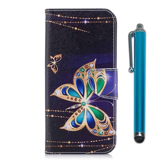 Case สำหรับ Samsung Galaxy J7 (2017) / J5 (2017) / J5 (2016) Wallet / Card Holder / with Stand ตัวกระเป๋าเต็ม Butterfly Hard หนัง PU