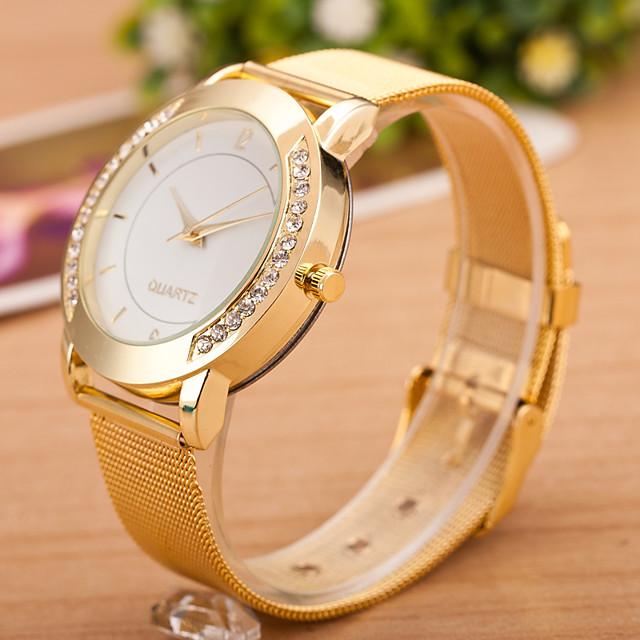 Pentru femei Ceas de Mână Diamond Watch Quartz femei Ceas Casual Analog Auriu Argintiu / alb / Oțel inoxidabil / Un an / Un an / Jinli 377