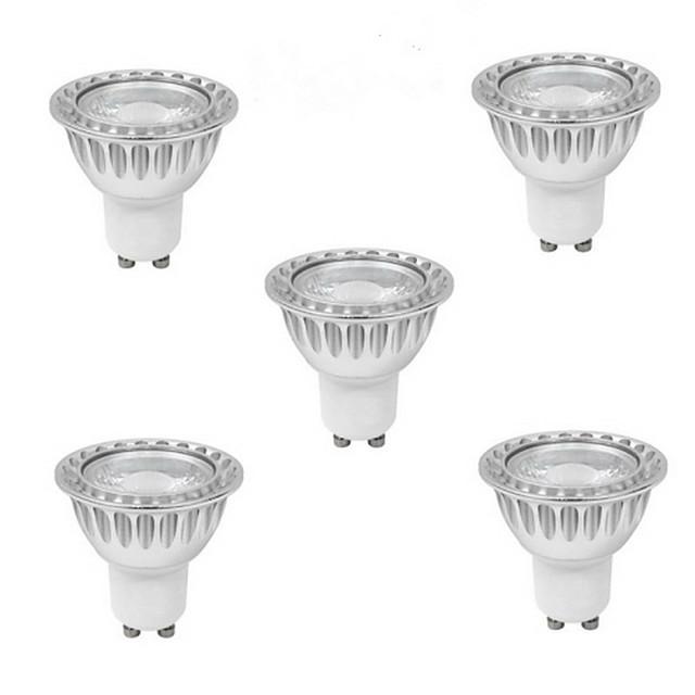 5pcs 5 W Spoturi LED 400-500 lm GU10 1 LED-uri de margele COB Alb Cald Alb Rece Alb Natural 85-265 V / 5 bc / RoHs