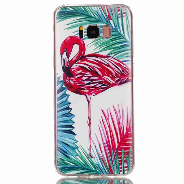 Кейс для Назначение SSamsung Galaxy S8 Plus / S8 / S7 edge С узором Кейс на заднюю панель Фламинго Мягкий ТПУ