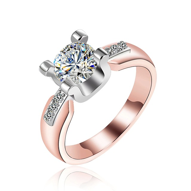 Rose GoldSilver Copper Band Ring