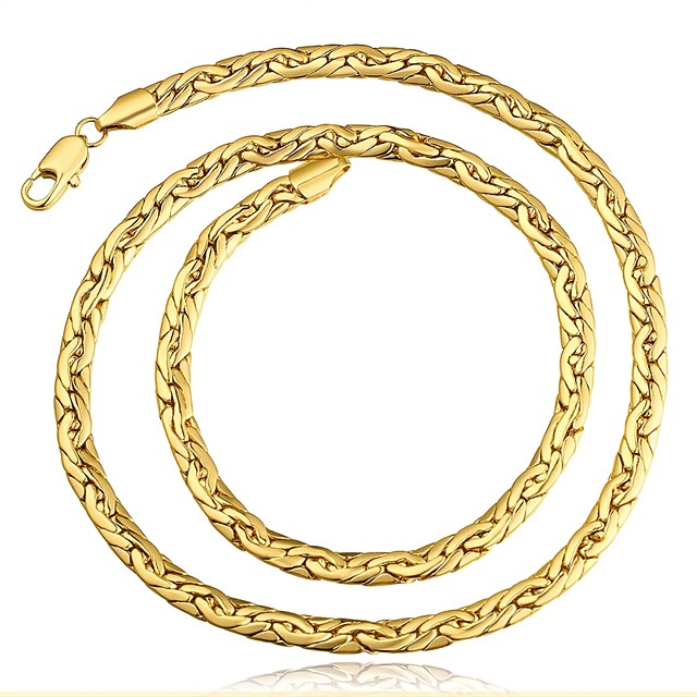 สำหรับผู้ชาย สร้อยคอ Choker ห่วงโซ่ Foxtail คลาสสิก ทองแดง Rose Gold สีทอง สร้อยคอ เครื่องประดับ 1 สำหรับ ของขวัญ ทุกวัน