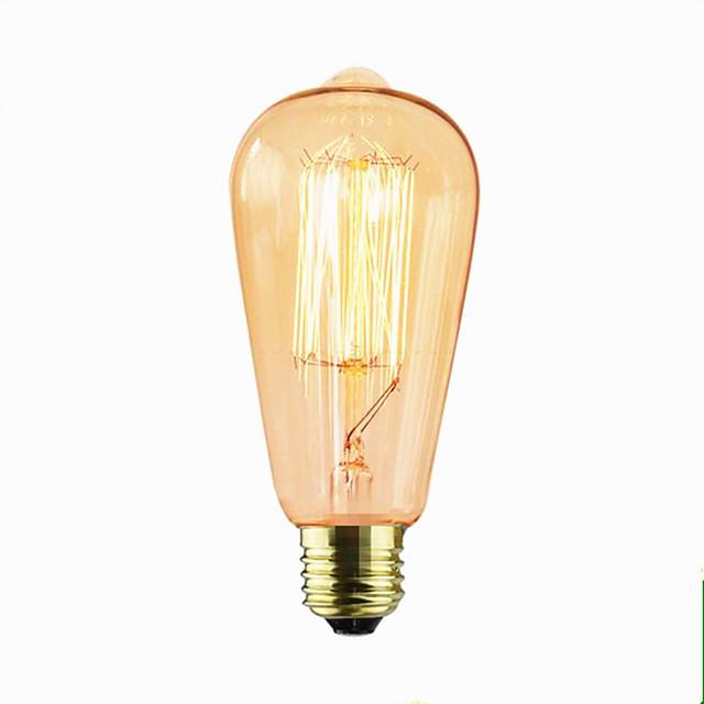 1pc 60 W E26 / E27 ST64 2300 k Incandescent Vintage Edison Ampul 110-220 V / 220 V / 220-240 V