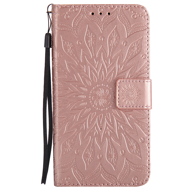 Case For Samsung Galaxy J7 Prime / J7 (2017) / J7 (2016) Wallet / Card Holder / with Stand Full Body Cases Mandala Hard PU Leather