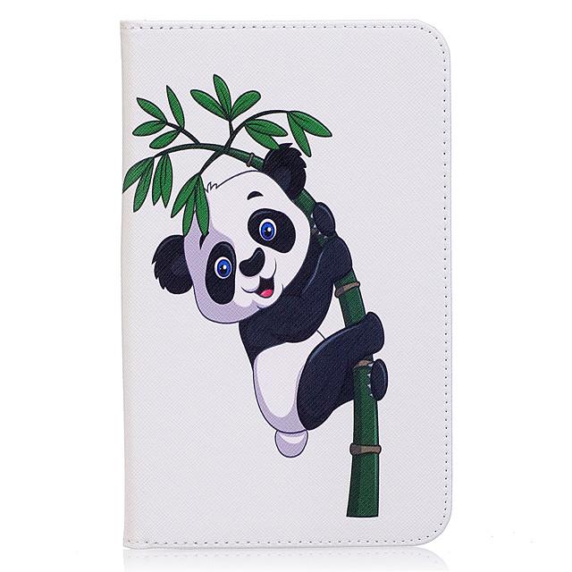 Coque Pour Samsung Galaxy Tab A 7.0 (2016) Portefeuille / Porte Carte / Avec Support Coque Intégrale Panda Dur faux cuir