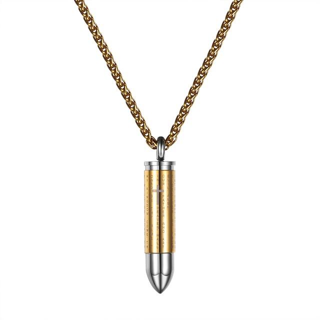 رجالي نسائي قلائد الحلي موضة الفولاذ المقاوم للصدأ أسود ذهبي فضي 55 cm قلادة مجوهرات من أجل مناسب للبس اليومي