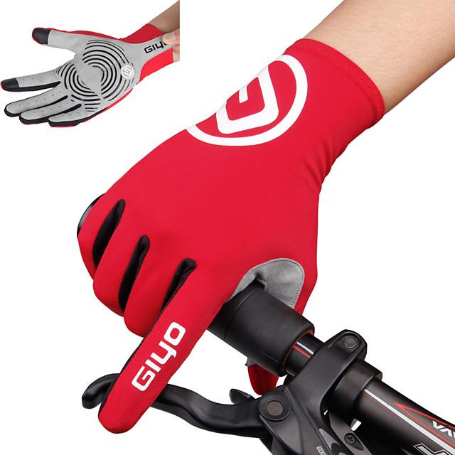 Hiver Gants vélo / Gants Cyclisme Gants de VTT VTT Vélo tout terrain Vélo Route Chaud Respirable Antidérapant Anti-transpiration Doigt complet Gants sport Noir Bleu Ciel Jaune pour Adulte Extérieur